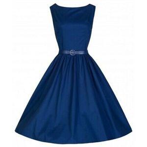 LINDY BOP Navy Audrey Dress
